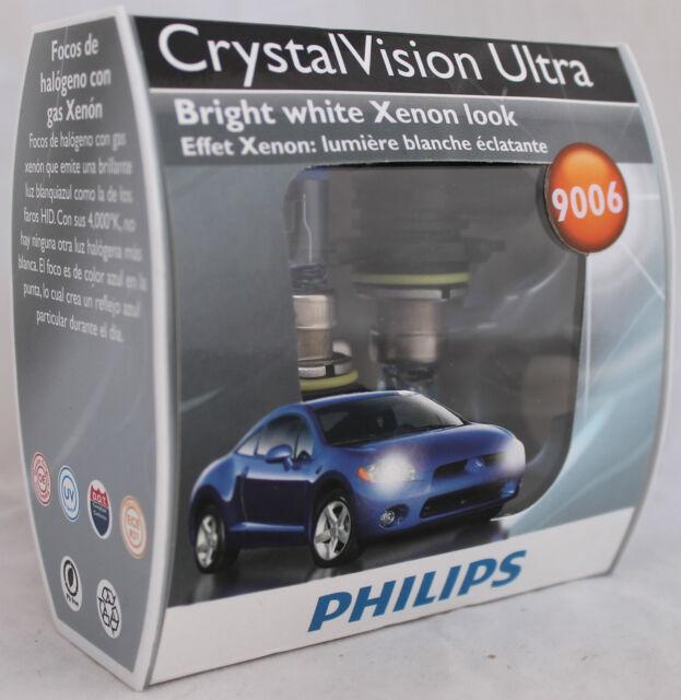 PAIR PHILIPS CRYSTAL VISION ULTRA HALOGEN HEADLIGHTS 9006 CVS2 -NEW HB4 12v 55W