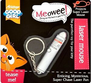 LASER-MOUSE-cat-toy-Good-Girl-Pointer-Pen-Toy-Kitten-Chase-Fun-bp-Keyring