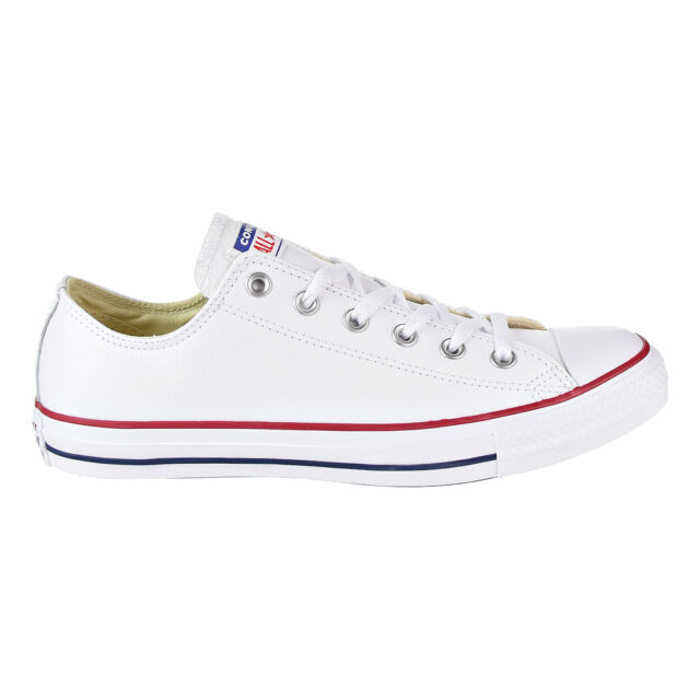 40334adc3bcc Converse 132173c Chuck Taylor All Star Leather Low White 10 M   12 W ...