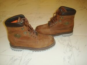 Harley-Davidson-Mens-Motorcycle-Work-Brown-Leather-Boots-size-11-5