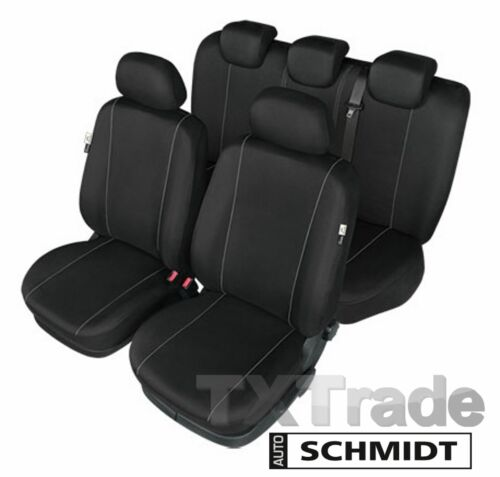 Schwarzer SET Sitzbezüge für TOYOTA AVENSIS I bis 2003 SCHMIDT XL LXL