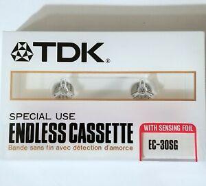 TDK ENDLESS TAPE CASSETTE SEALED EC30SG RECORDING JAPAN ANSWERING MACHINE PHONE