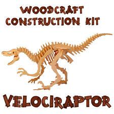 Woodcraft construction kit VELOCIRAPTOR 3D Modello in Legno Gioco Puzzle Di Costruzione Giocattolo