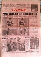 L'Equipe Journal 2-3/10/1986; Julio Cesar Chavez-Rocky Lockridge à Monaco