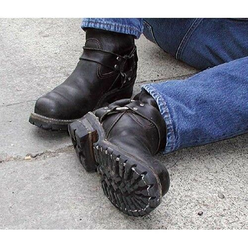 """Wesco Harness 11/"""" Black Leather Boots"""