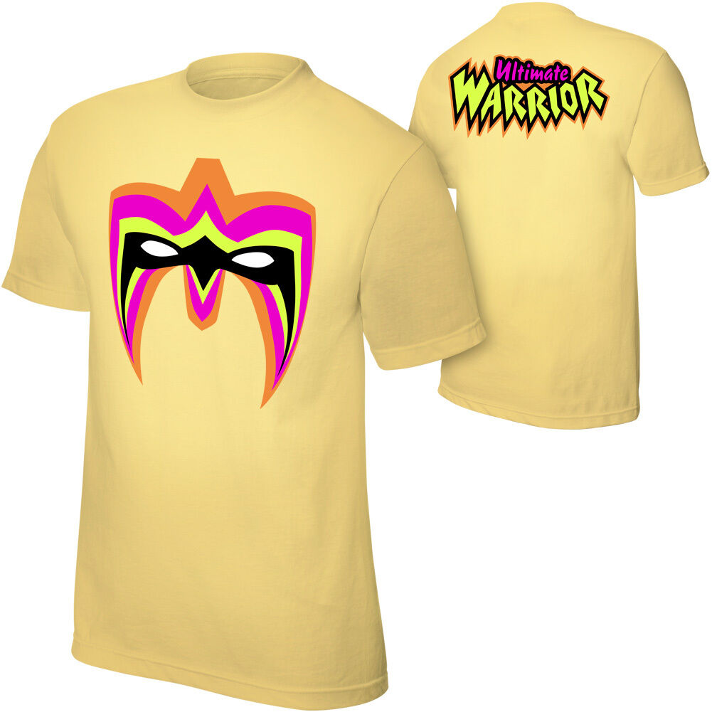 76ba94adc3b91c Official - Ultimate Warrior Parts Unknown Authentic T-Shirt Yellow WWE  nnkllg2669-T-Shirts
