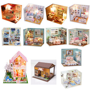 LED Charles/'s Room DIY Handcraft Miniature Project Kit Wooden Dolls House