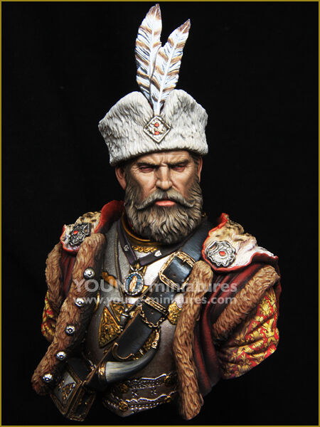Young Miniatures Polish Hussar Nobleman 1 10th YH1849 Bust Unpainted kit