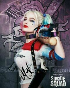 Suicide Squad - HARLEY QUINN MARGOT ROBBIE #2 A5 Signed Mounted Photo Print