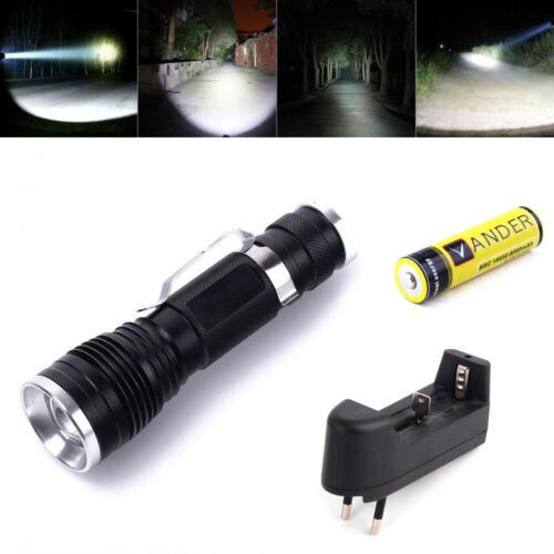 EU Ladegerät 18650 Akku VANDER Mini Taschenlampe Tragbar LED Flashlight