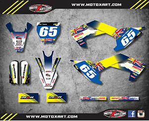 Details about Custom Graphics Kit AUSSIE PRIDE style decals fits Husqvarna  TC 65 2016 - 2019