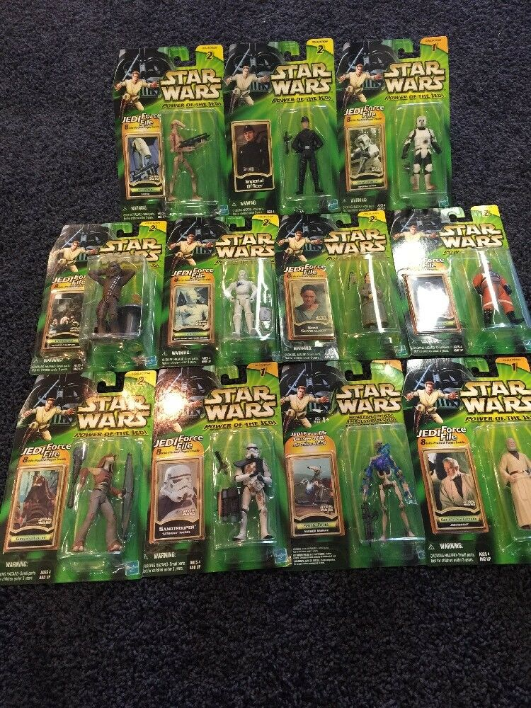 11x  Meerled Kenner Stern Wars Power Of The Jedi Figures Grün voitured New