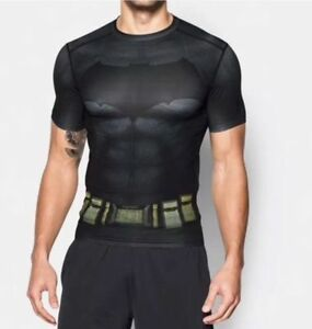 Détails sur Neuf avec étiquettes $60 Men's Under Armour Alter Ego Batman Compression SS Shirt 1273690 040 afficher le titre d'origine