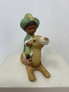 Hallmark Mary Hamilton Loving King Camel 1982 Nativity Bisque Figurine