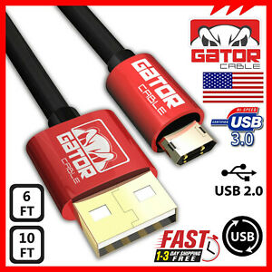 Reversible-Micro-USB-2-0-Cable-Fast-Charger-Sync-Data-Samsung-LG-HTC-Android