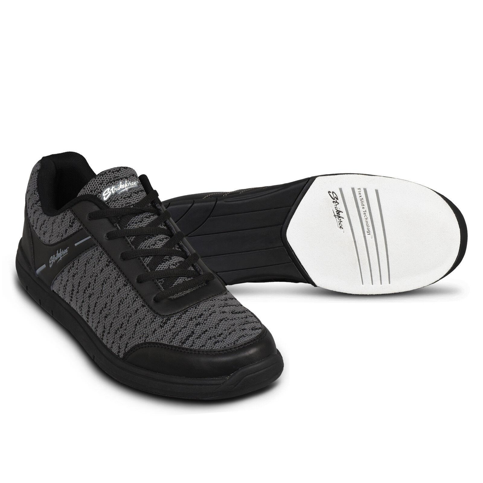 Mens KR Black Flyer Bowling Shoes Size 7-14 WIDE /& Black//Silver 1 Ball Bag