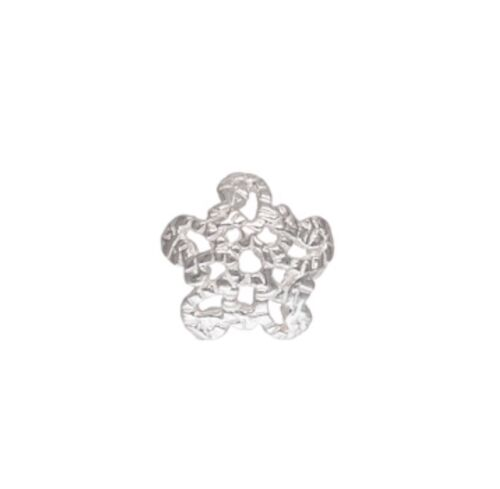 925 Sterling Silver 6mm Flower Bead Caps 10pcs  #5405-9