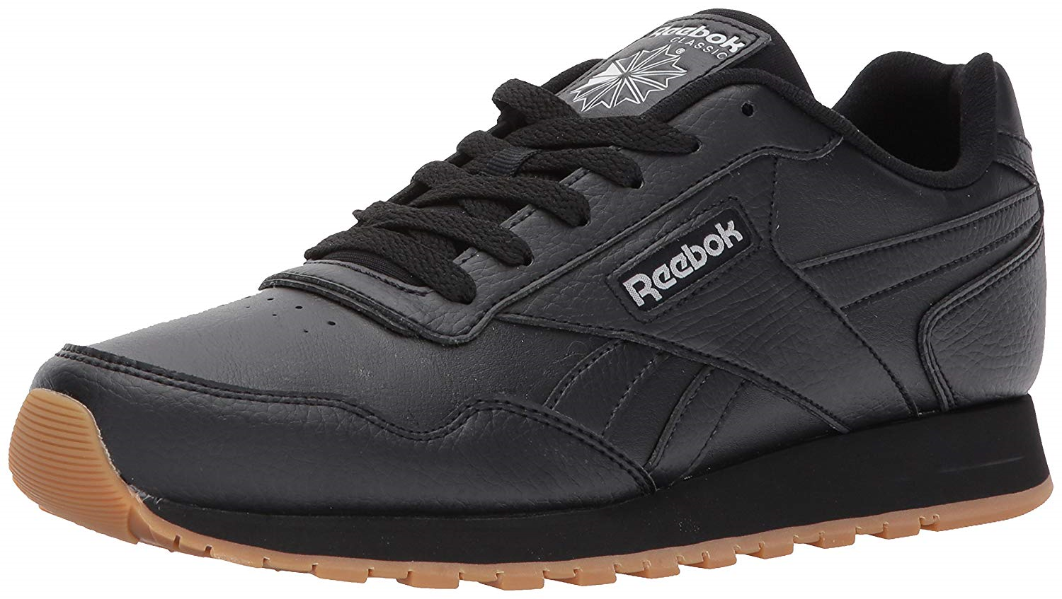 Reebok Mens Classic Harman Run Sneaker, black gum, 8 M US