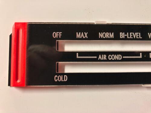 NEW 1979 Trans Am SILVER ANNIVERSARY A//C Heater Control LENS AC Temp Climate Air