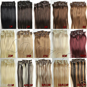 NEW-Clip-In-Remy-Human-Hair-Extensions-Any-Colors-Full-Head-Set-14-034-18-034-20-034-22-034