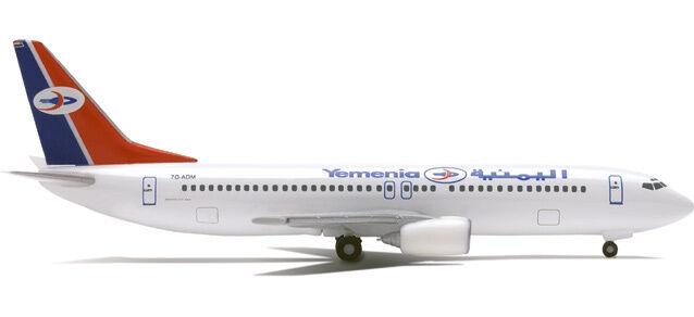 Herpa 514019 Yemenia Airways Boeing 737-800 1 500 Scale Diecast Retirosso