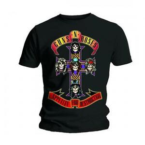 Guns-n-roses-t-shirt-appetite-for-destruction-officiel-noir-homme-t-shirt-rock-slash