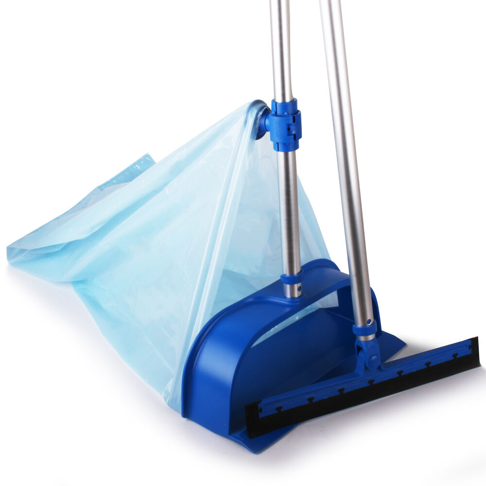 Baggy Sweeping Set for Hygienic Easy Cleaning. Dustpan Squeegee Rubber Blade
