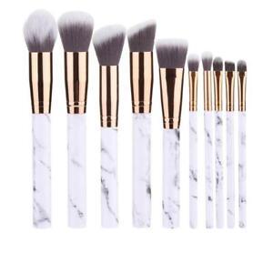 10pcs-Marbling-Kabuki-Professional-Make-up-Brush-Set-Brushes-Blusher-Powder