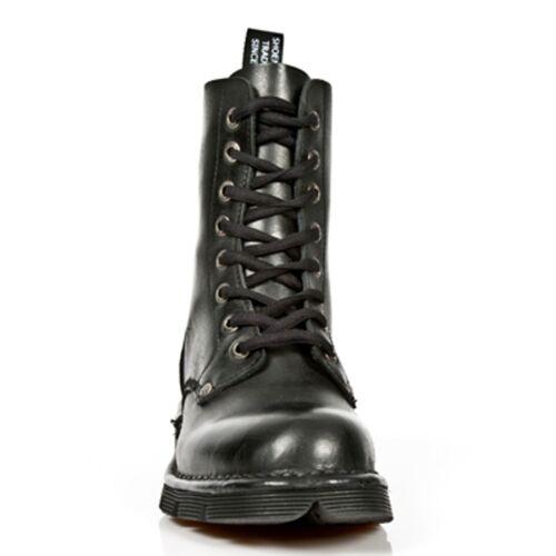 acier noir Bottes M Rock unis Style Newrock en Bout S1 newmili084 New gPqZvwW6g