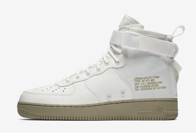 sale retailer 677b2 03ecc Nike SF Air Force 1 Mid Mens 917753-101 Ivory Neutral Olive Shoes Size 12