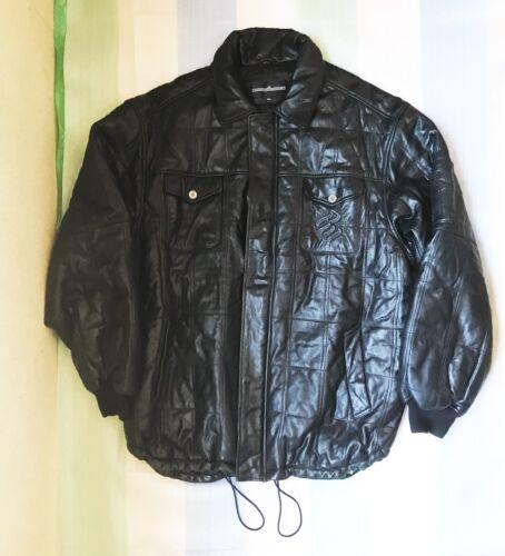 Roca Wear Quilted Leather Jacket XXL 2XL Black Jay