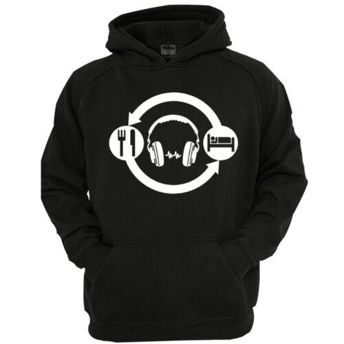 Men/'s Funny Novelty Hoodie DJ Headphones Hoodie Adult Hoodie