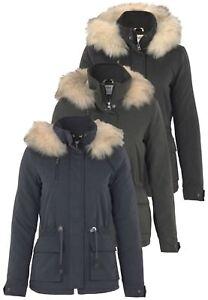 Only-Damen-Jacke-Onlstarlight-Fur-Parka-Fell-Kapuze-Langarm-warm-Winter-Jacket
