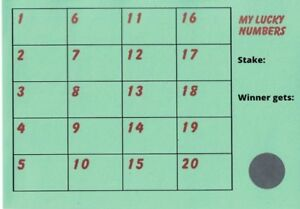 Details about Pack of 10 X Fund Raising Charity Event Scratch Cards 20  Lucky Numbers