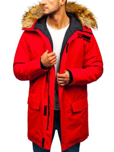 Winterjacke Parka Wärmejacke Mantel Alaska Wintermantel Herren BOLF 4D4 Futter