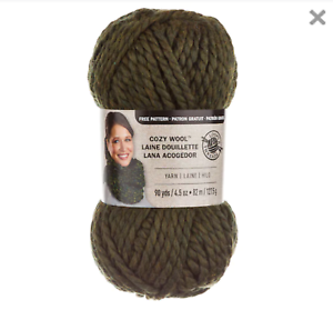 Loops-and-Threads-Yarn-Super-Bulky-6-90-Yards-Each-in-Moss-Green-2-Bundles