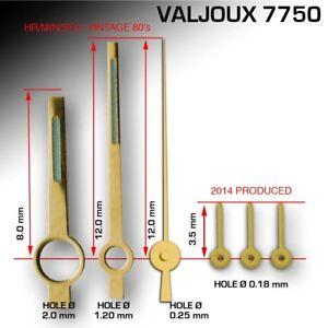 HANDS-SET-FOR-MOVEMENT-ETA-VALJOUX-7750-GOLD-NOS