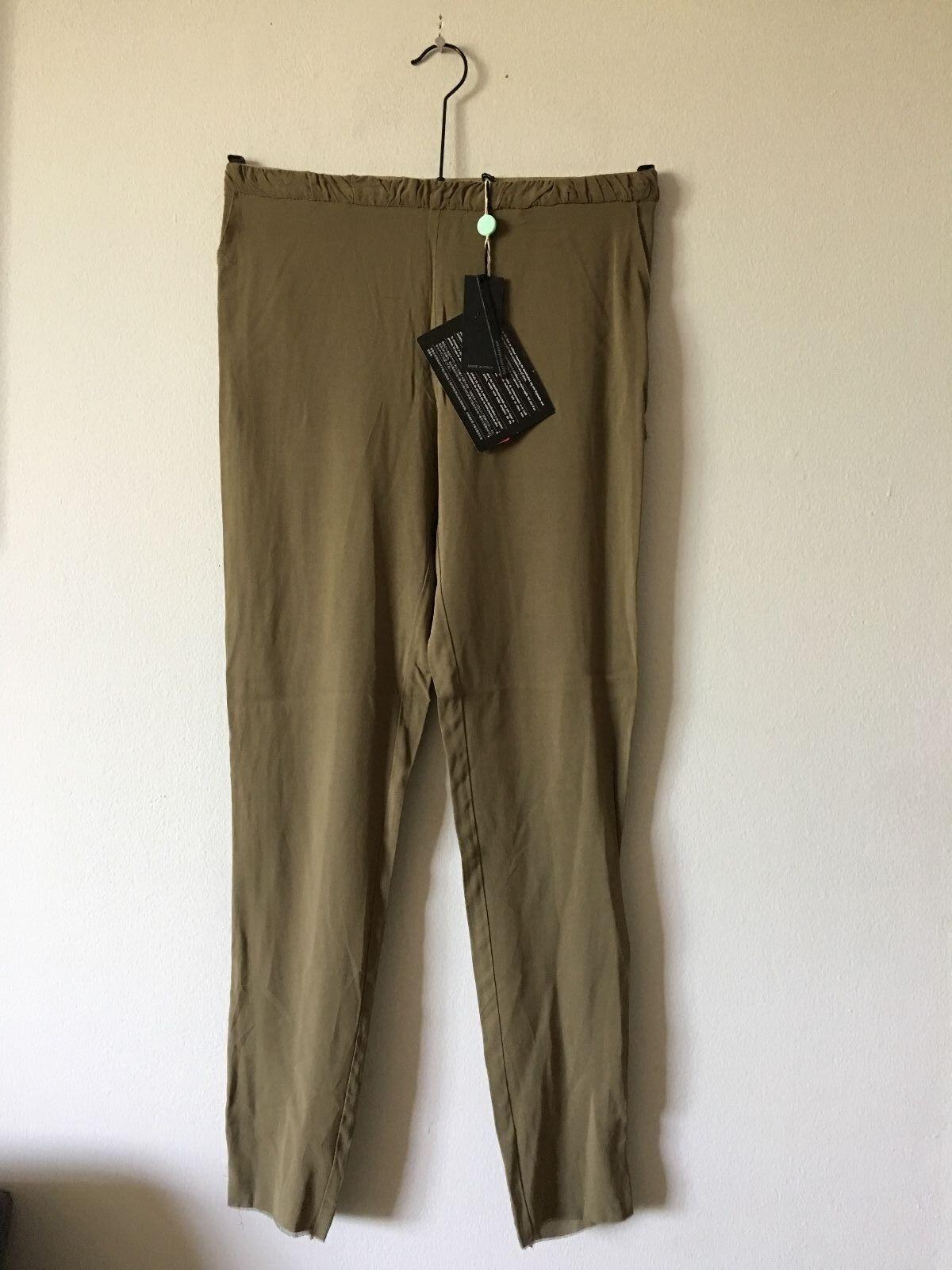 NWT Gaetano Navarra Raw Edge Seam Detail Stretchy Slim Pants Size IT 42 US 4 6
