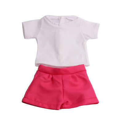 18/'/' Doll Clothing T-shirt Top /& Shorts Pants for AG American Doll Doll Costume