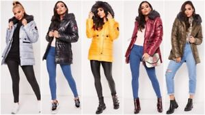 Womens-Fur-Collar-Hooded-Jacket-Ladies-Puffer-Winter-Warm-Toggle-Coat-Parka-Size