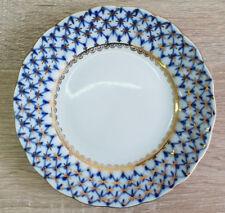 Lomonosov Kobaltnetz Teller / Russisches Porzellan