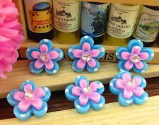 DIY 10/50/100pcs flower rhinestone Flatback Resin Cabochon Scrapbooking,Crafts