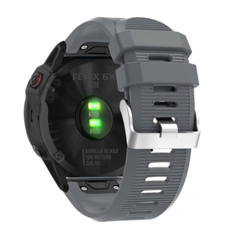 Quick Instal Silicone Wrist Band Strap Bracelet For Garmin Fenix 6//6S//6X//6X Pro