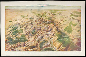 Batalla De Verdun Mapa.Dettagli Su Guerra 14 18 Batalla De Verdun Vista Y Mapa Panoramique 1916