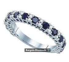 black diamond 1.09-carat 10K gold wedding band anniversary birthday ring spacer