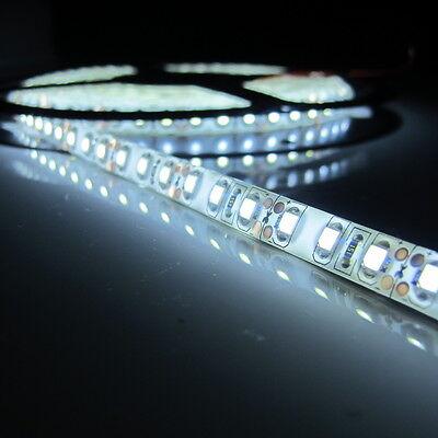 Super Bright 16.4Ft SMD3528 600 LED White Waterproof Flexible Light Strips DC12V