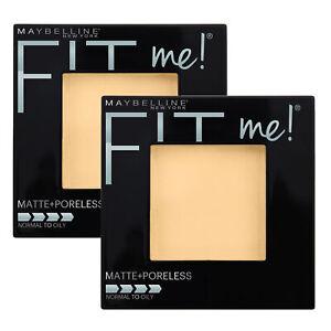 NEW Maybelline Fit Me Matte & Poreless Long-Lasting Pressed Powder Porcelain x 2