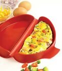 Norpro Microwave Omelet Pan Oven Egg Maker Cooker Red Silicone Tool Healthy 930