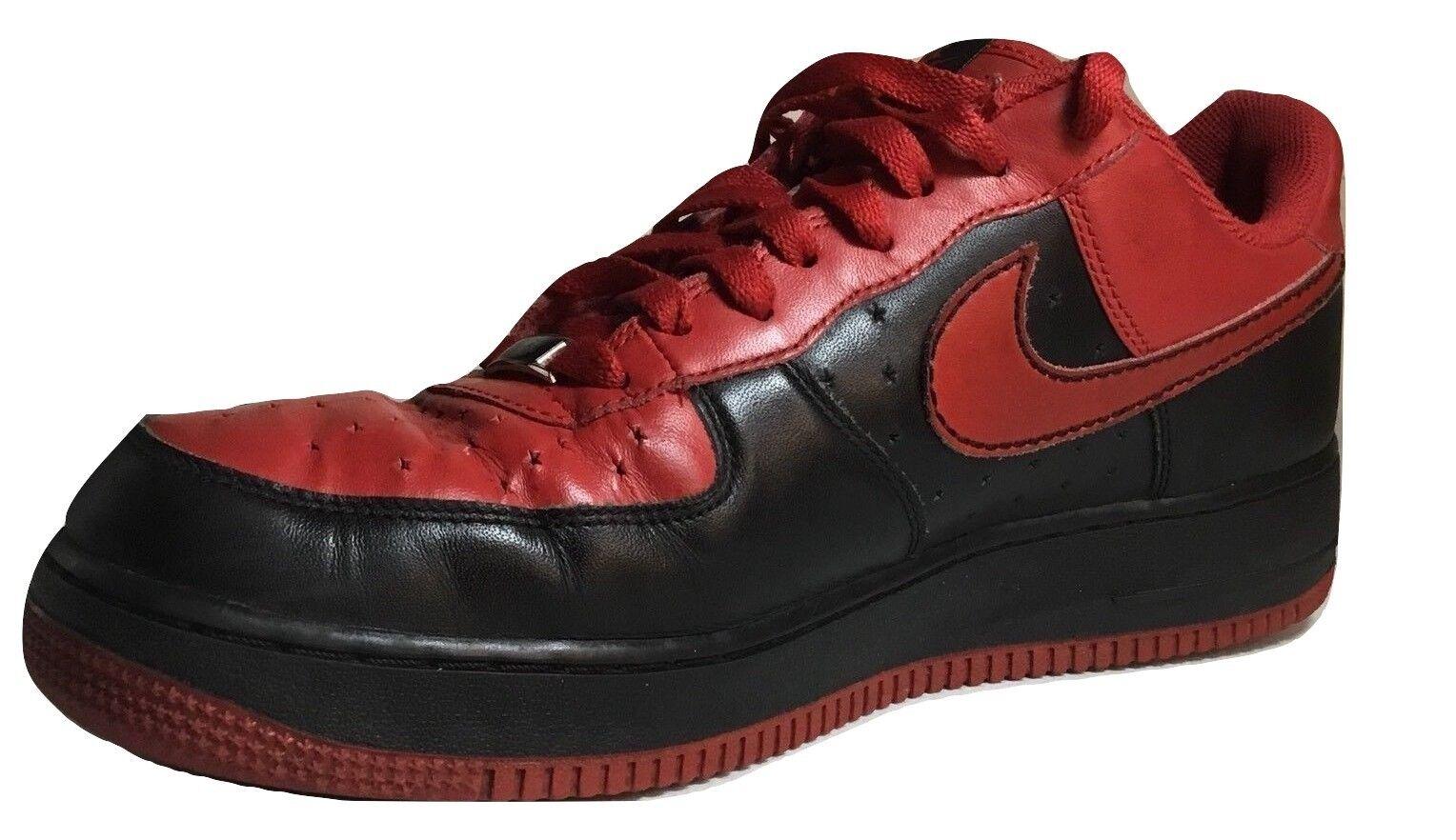 Nike Air Force 1 '82 Low AF-1 , Blk & Red Men's Size 11
