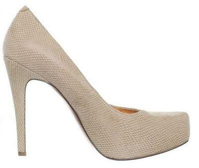 Women's BCBG BCBGeneration PARADE Platform Pumps Heels Snake Leather Cashew